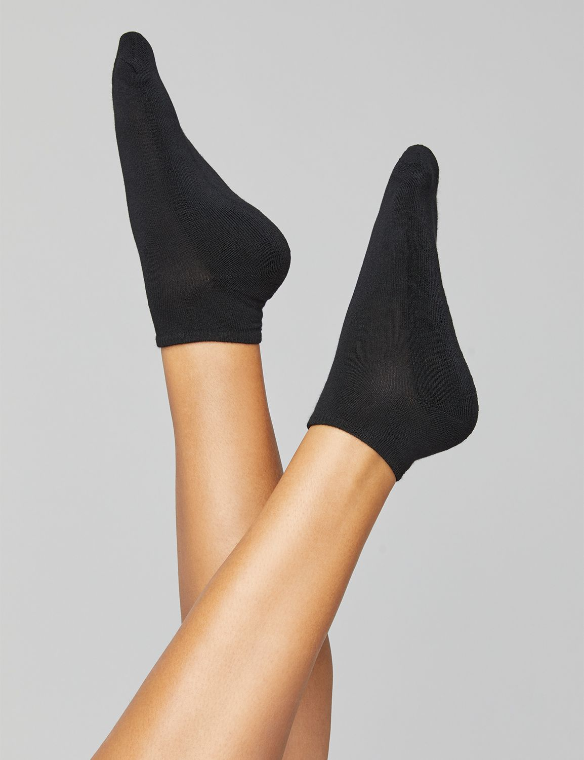 Lane Bryant Womens Cushioned Ankle Sock Duo ONESZ Black