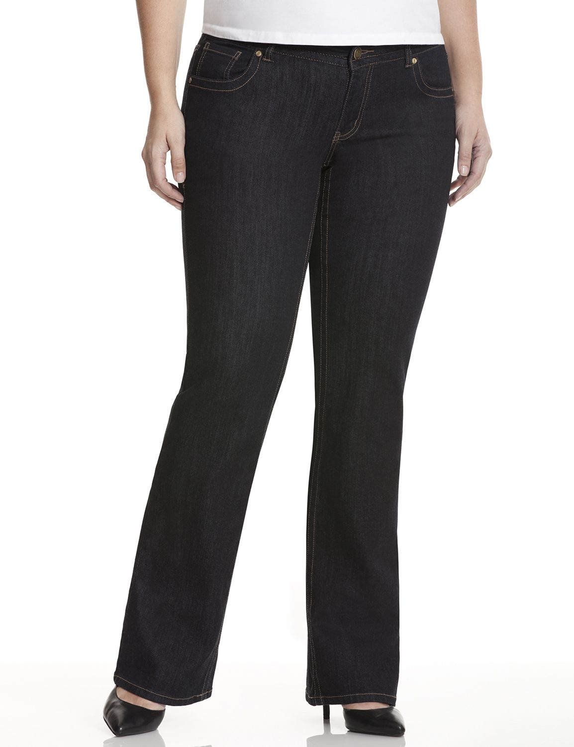 Plus Size Bootcut Jeans & Denim for Women | Lane Bryant