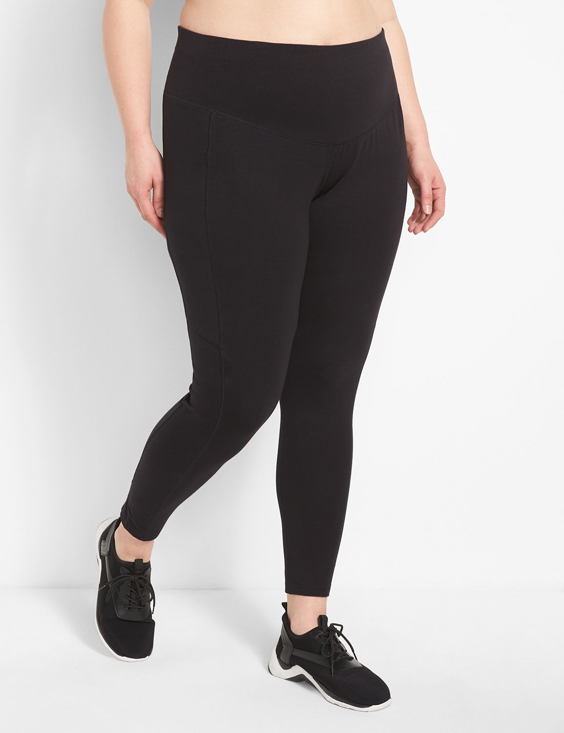 Lane Bryant Womens Control Tech Smoothing Active Legging 18/20 Pitch Black