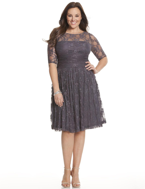 Lane Bryant Womens Luna Lace Dress By Kiyonna 1X Nine Iron