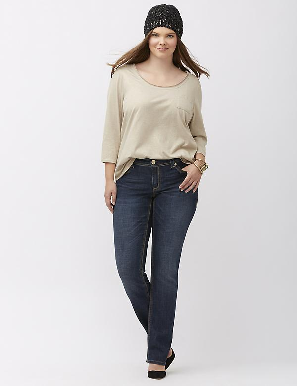 Women's Plus Size Straight Leg Jeans & Denim | Lane Bryant