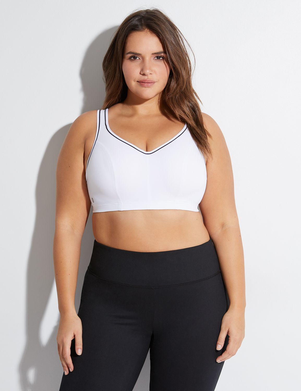 Lane Bryant Womens High-Impact Molded Underwire Sport Bra 44DDD White