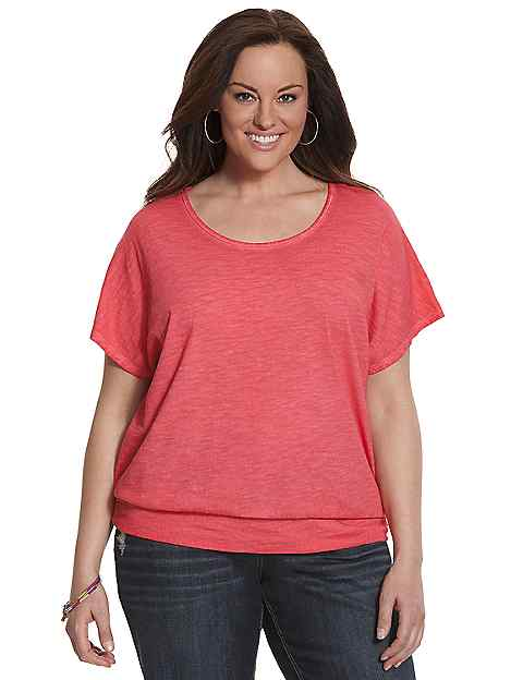 Banded bottom tee by lane bryant lane bryant for Banded bottom shirts canada