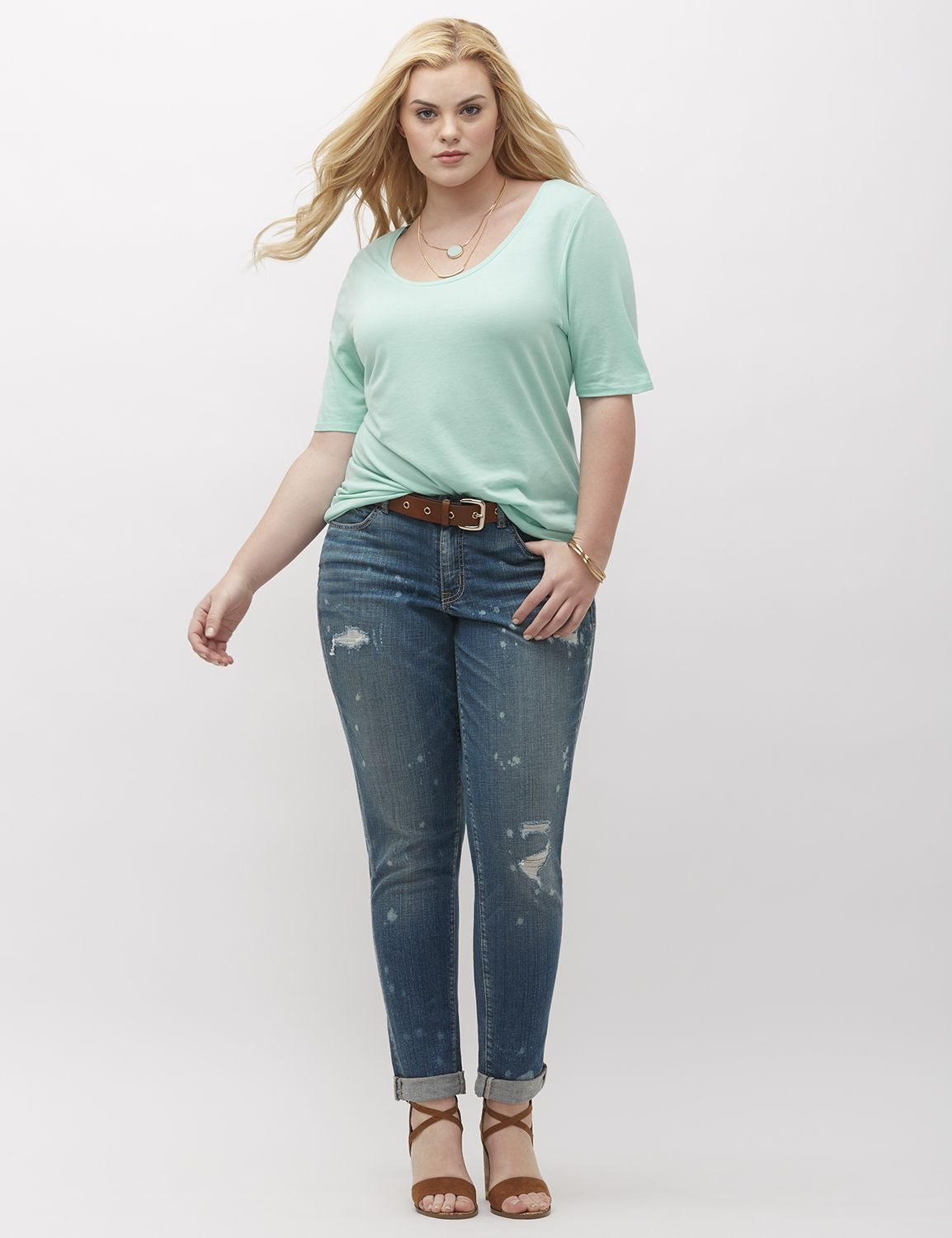 Jeanși de damă LANE BRYANT Destructed, Plus size