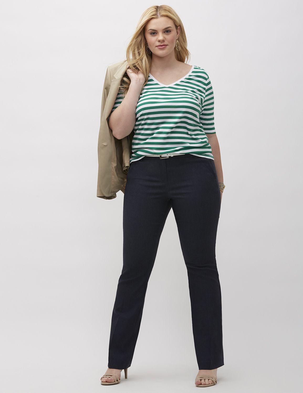 Lane Bryant Womens Sophie Refined Denim Bootcut Pant 24 Ultra Navy