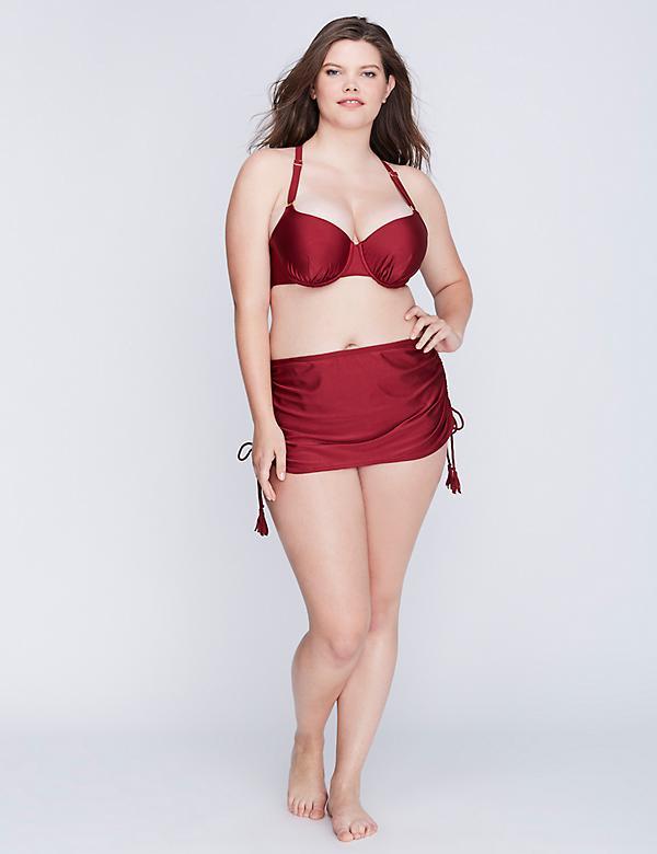 Shimmer Bikini Top with Built-in Balconette Bra