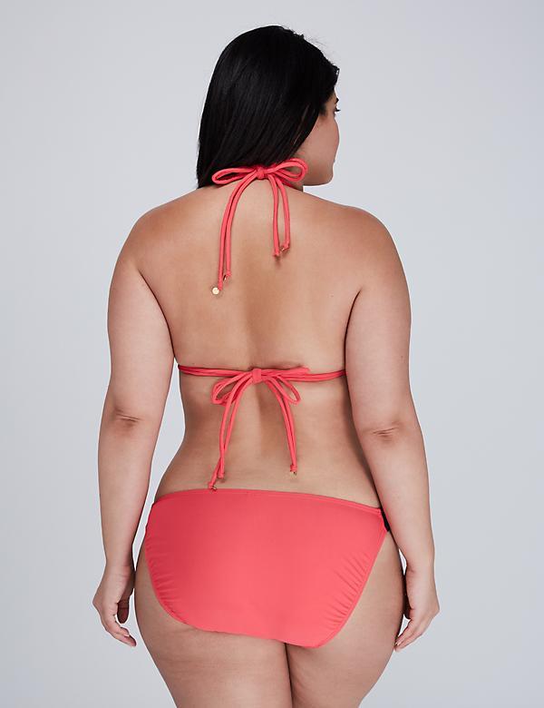 Crochet Trim Triangle String Bikini Top - alternate image