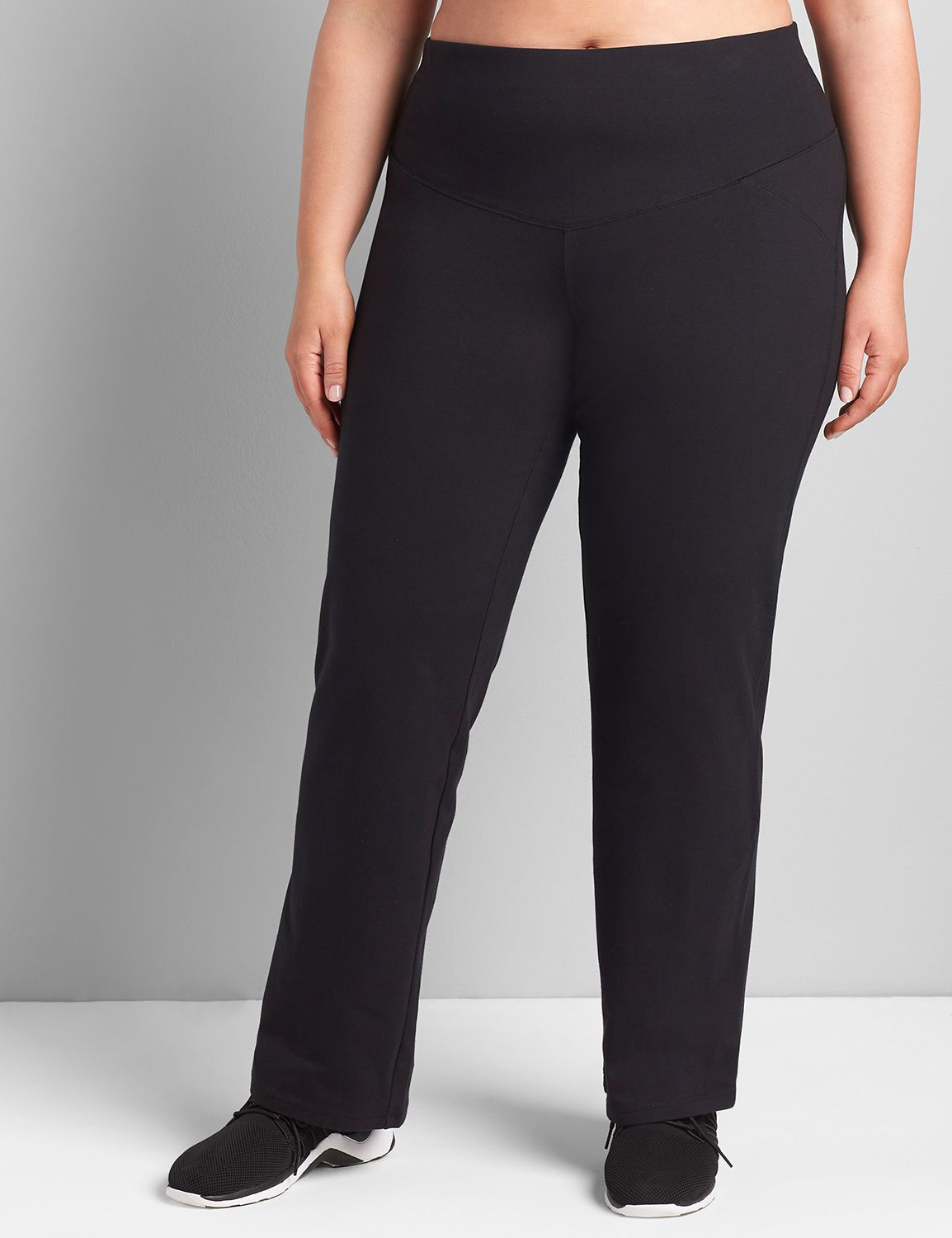 Lane Bryant Womens Control Tech Smoothing Yoga Pant 22/24 Pitch Black