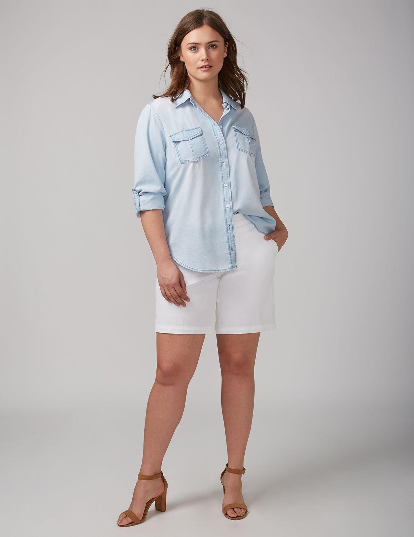 Pantaloni scurți de damă LANE BRYANT Bermuda, Plus size