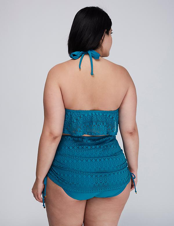 Crochet Flounce Bikini Top with Built-In Bandeau Bra - alternate image