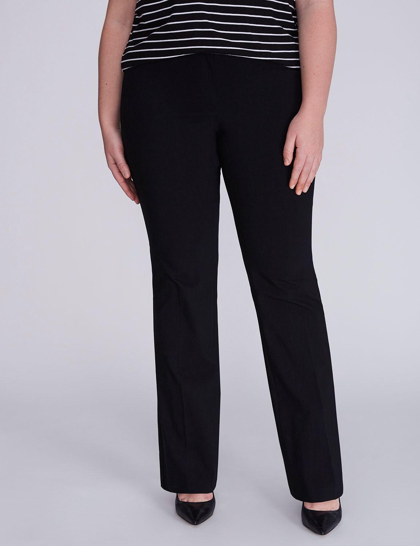 Lane Bryant Womens Allie Sexy Stretch Boot Pant 24 Black