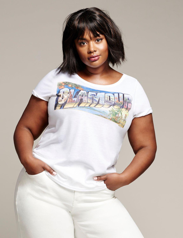 Tricou de damă LANE BRYANT Glamour, Plus size
