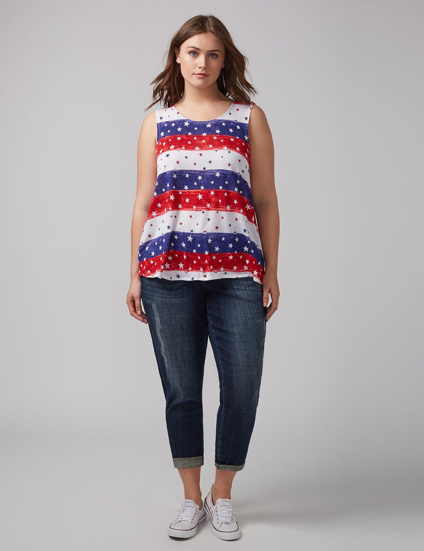 Tricou de damă LANE BRYANT Stars & Stripes