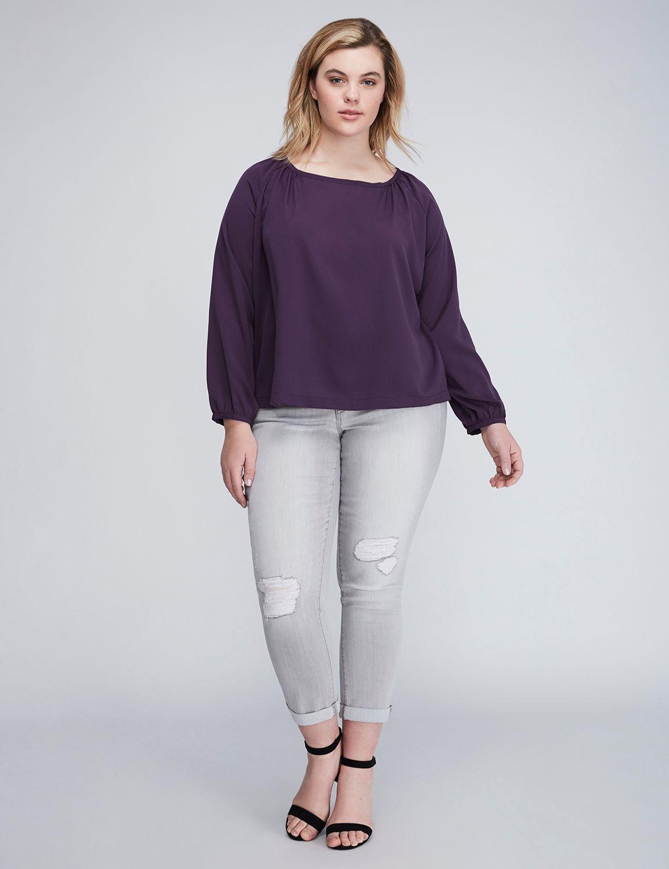 Bluză de damă LANE BRYANT Round, Plus size