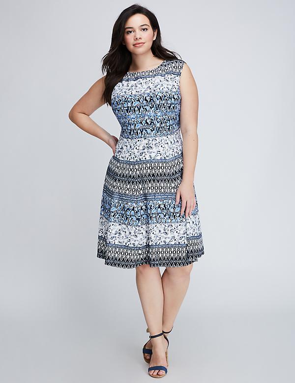 Scuba Fit & Flare Dress by Gabby Skye