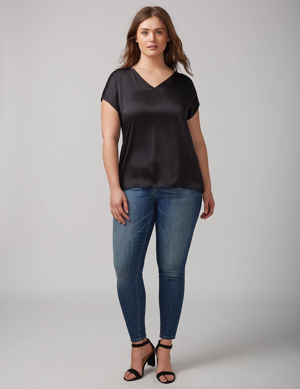 Tricou de damă LANE BRYANT Woven, Plus size