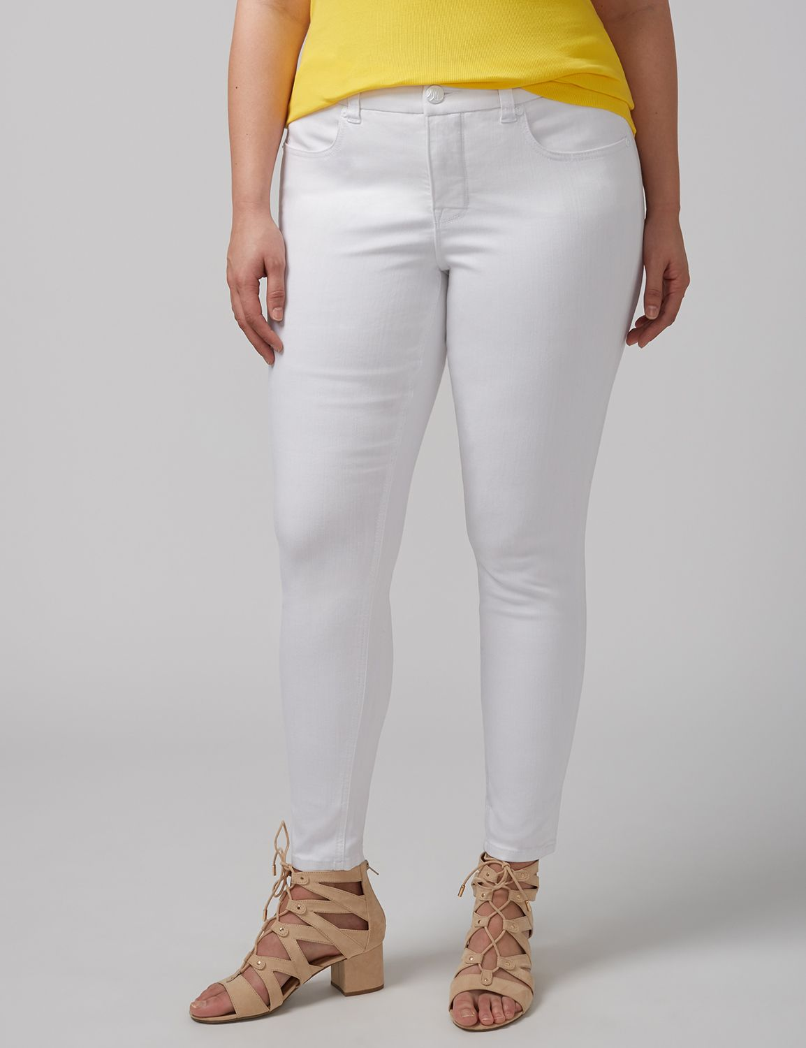 Lane Bryant Womens Pencil Ankle Jean By Melissa Mccarthy Seven7 18 White