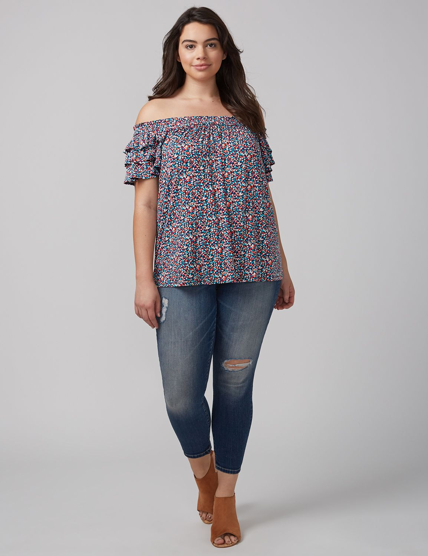 Bluză de damă LANE BRYANT Confetti, Plus size
