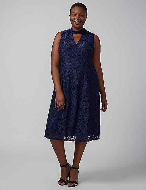 Lace choker dress lane bryant for Lane bryant wedding dress