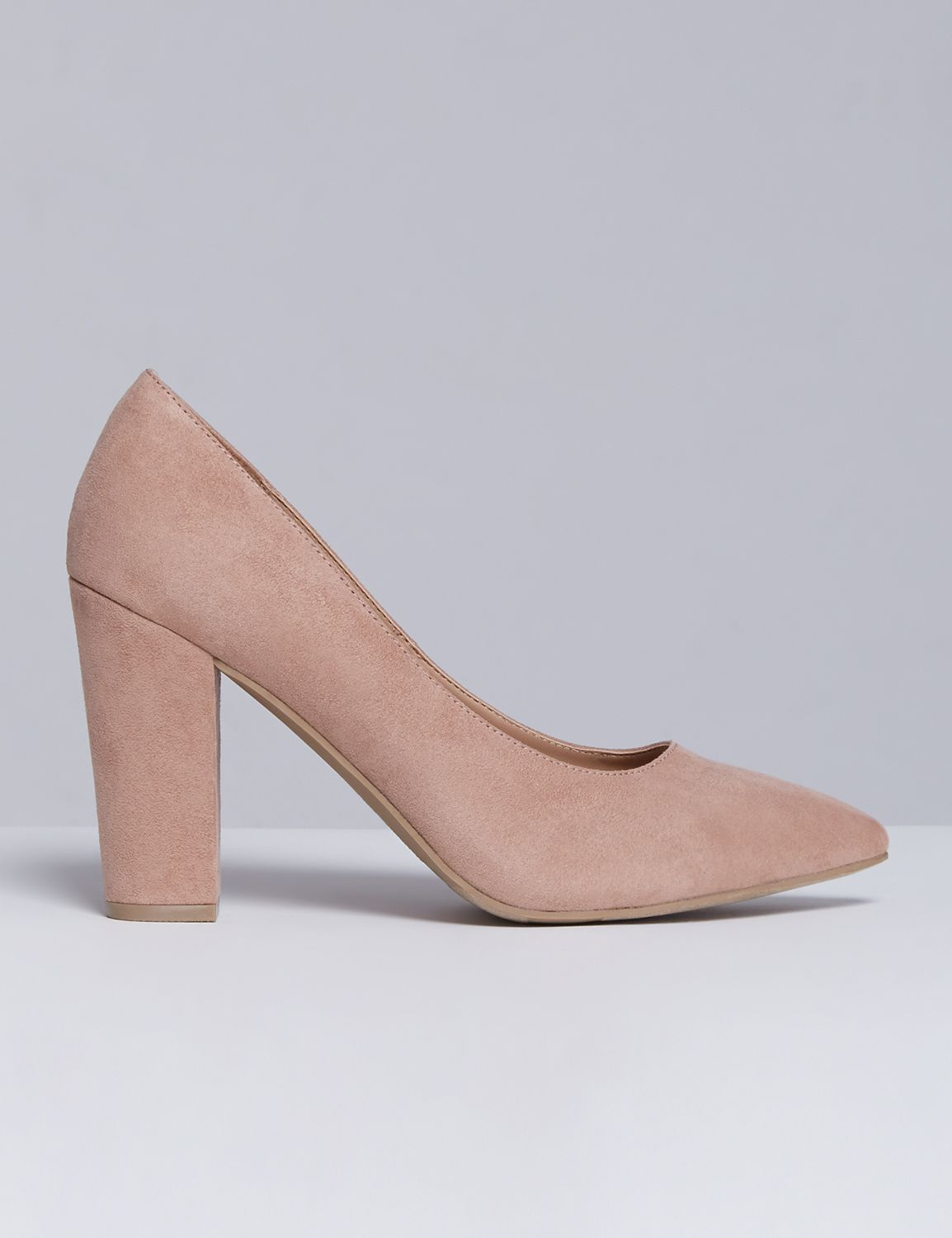 Lane Bryant Womens Block Heel Pump 7W Humus