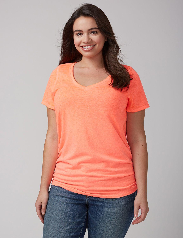 Tricou de damă LANE BRYANT Ruched, Plus size