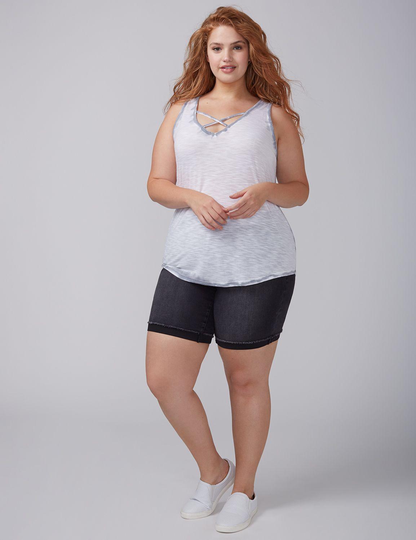 Tricou de damă LANE BRYANT Bleached, Plus size