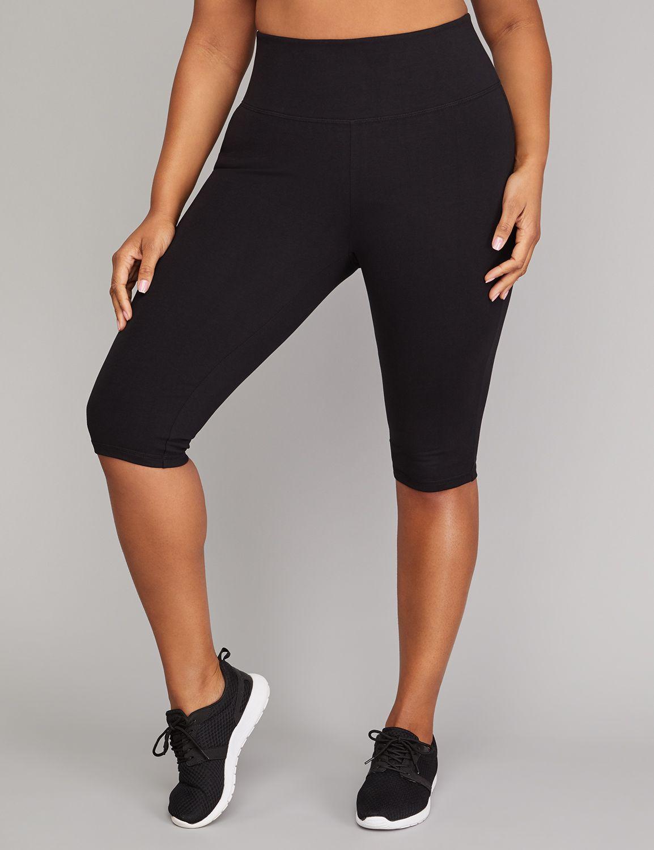 Lane Bryant Womens Signature Stretch Active Knee Legging 18/20 Black