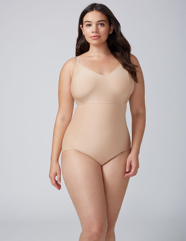 Lane Bryant Womens Shape By Cacique Bodysuit 26/28 Cafe Mocha