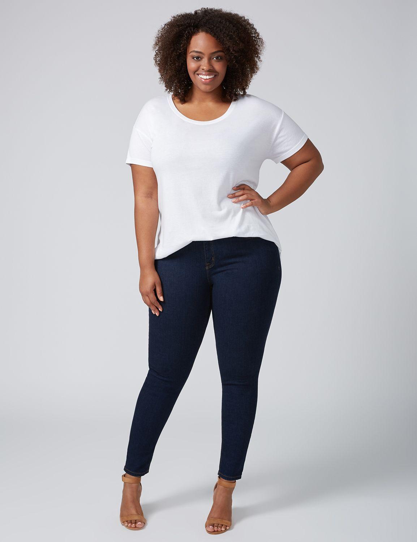 Lane Bryant Womens Super Stretch Skinny Jean - Rinse Wash 24S Rinse Wash