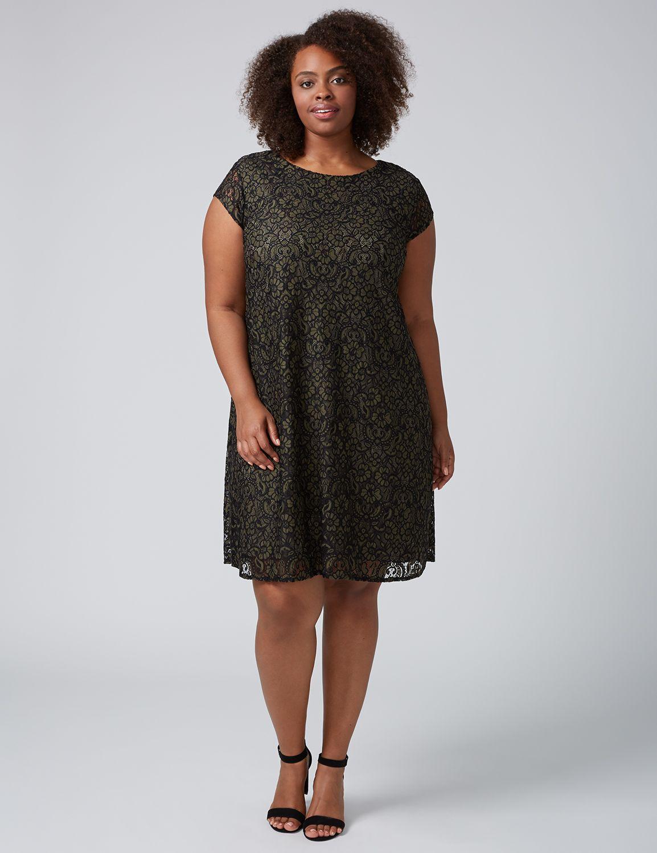 Cap Sleeve Black Cocktail Dress