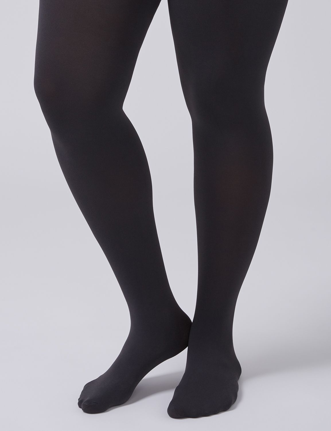 Lane Bryant Women's Control Top Solid Tights E-F Pale Grisaille