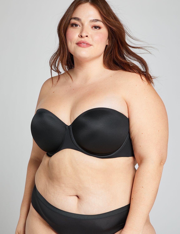 Lane Bryant Womens Lightweight Multi-Way Strapless Bra 36D Black