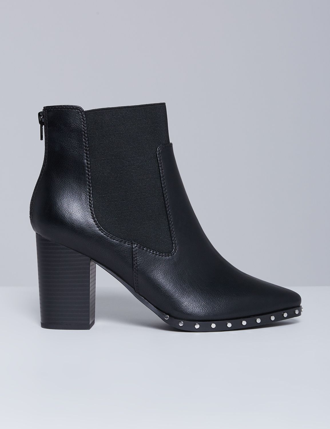 Lane Bryant Women S Studded Ankle Boot With Block Heel 8w