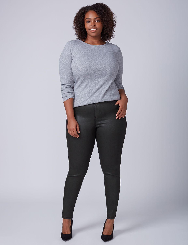 Lane Bryant Womens Super Stretch Skinny Jean - Coated 20 Tobacco
