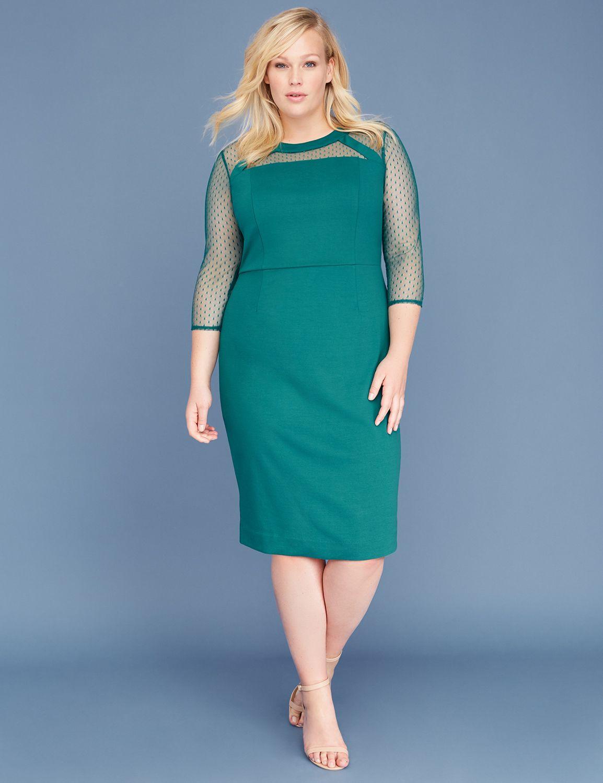 b3e91c1ebbe58 Point D'Esprit Sheath Dress | Lane Bryant