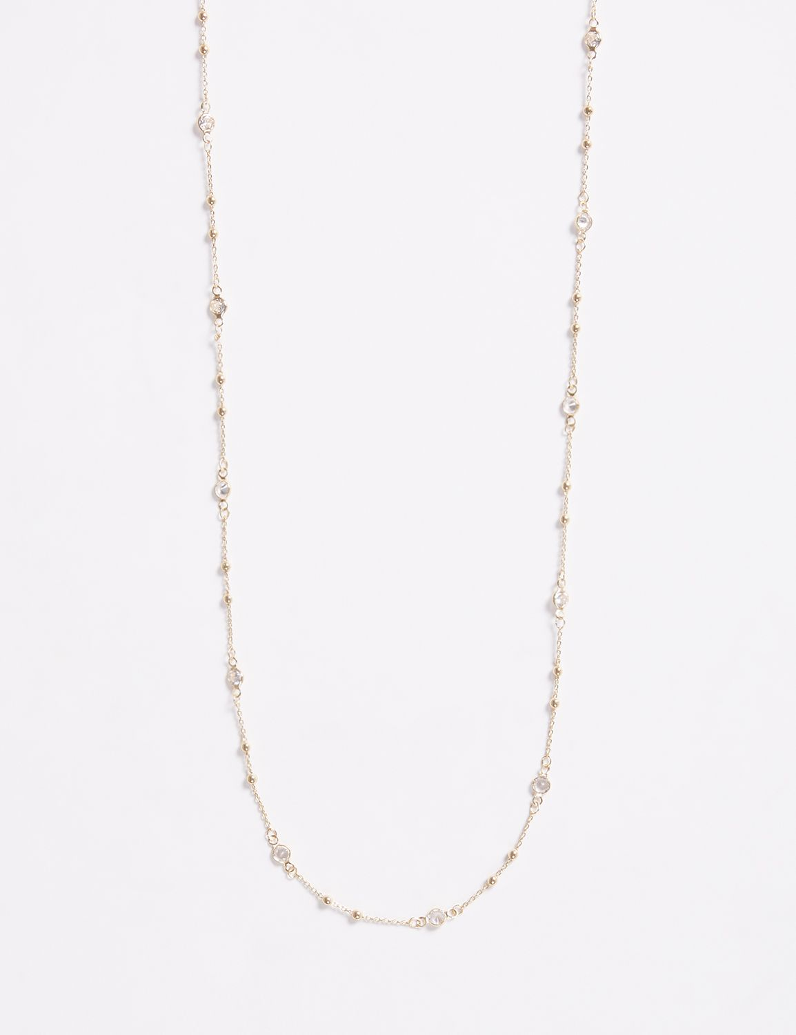 Lane Bryant Womens 60 Necklace With Cz ONESZ Gold Tone