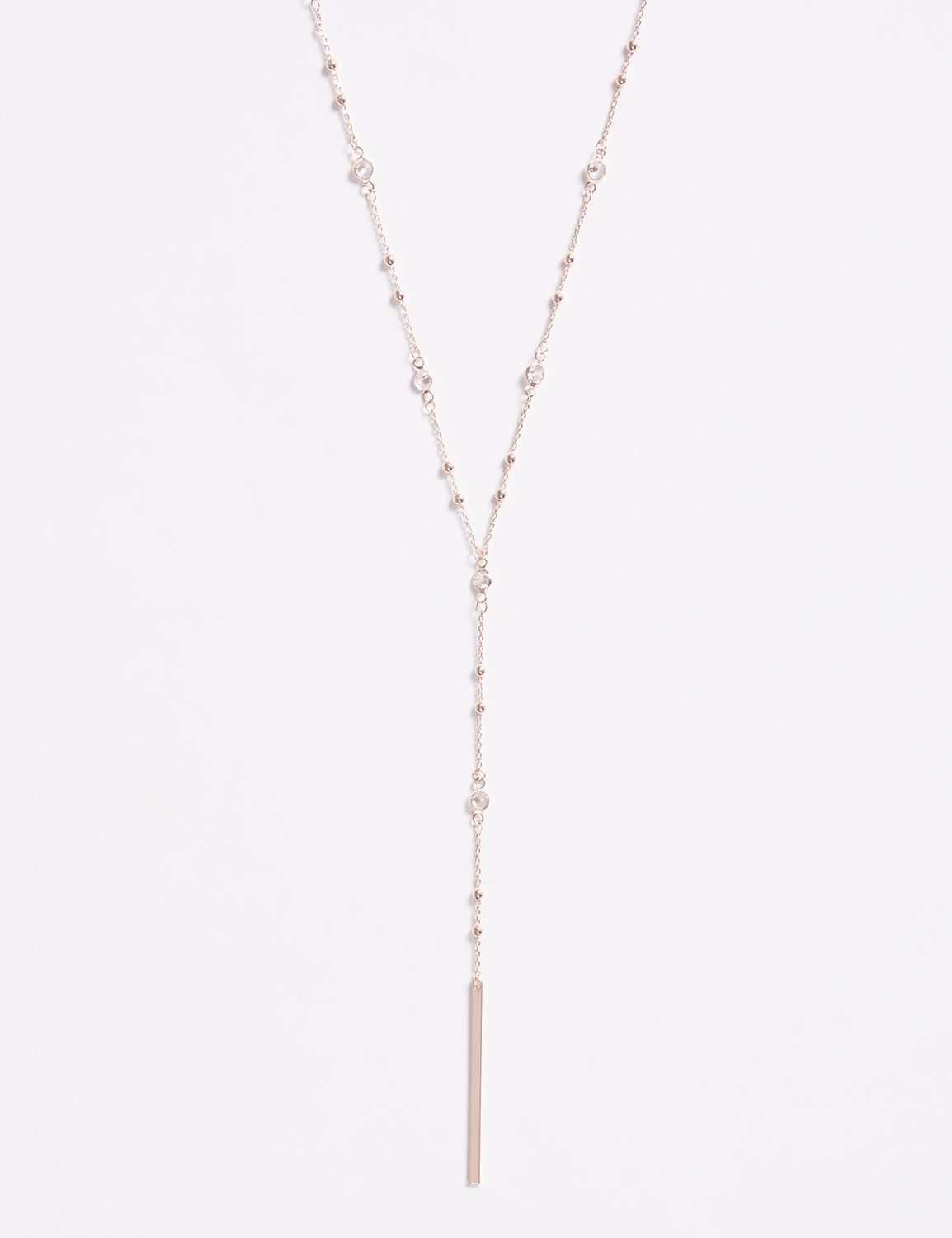 Lane Bryant Womens Cz Y-Necklace ONESZ Shell Pink