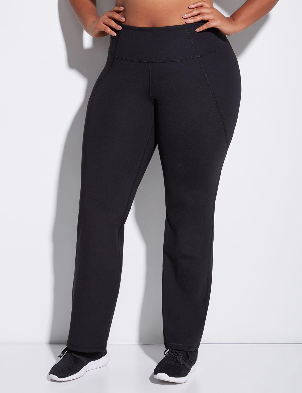 Lane Bryant Womens Sculpting Yoga Pant 22/24 Black