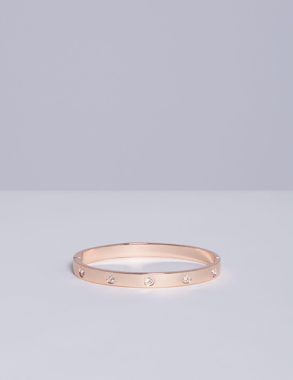 Lane Bryant Womens Hinge Bracelet With Cz ONESZ Shell Pink
