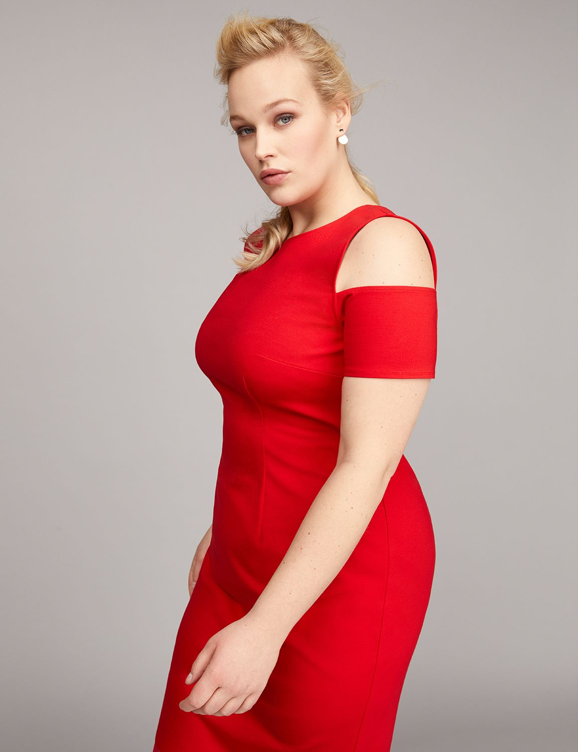 Fancy plus size dresses special occasion cocktail party dresses cold shoulder sheath dress with mesh ombrellifo Images