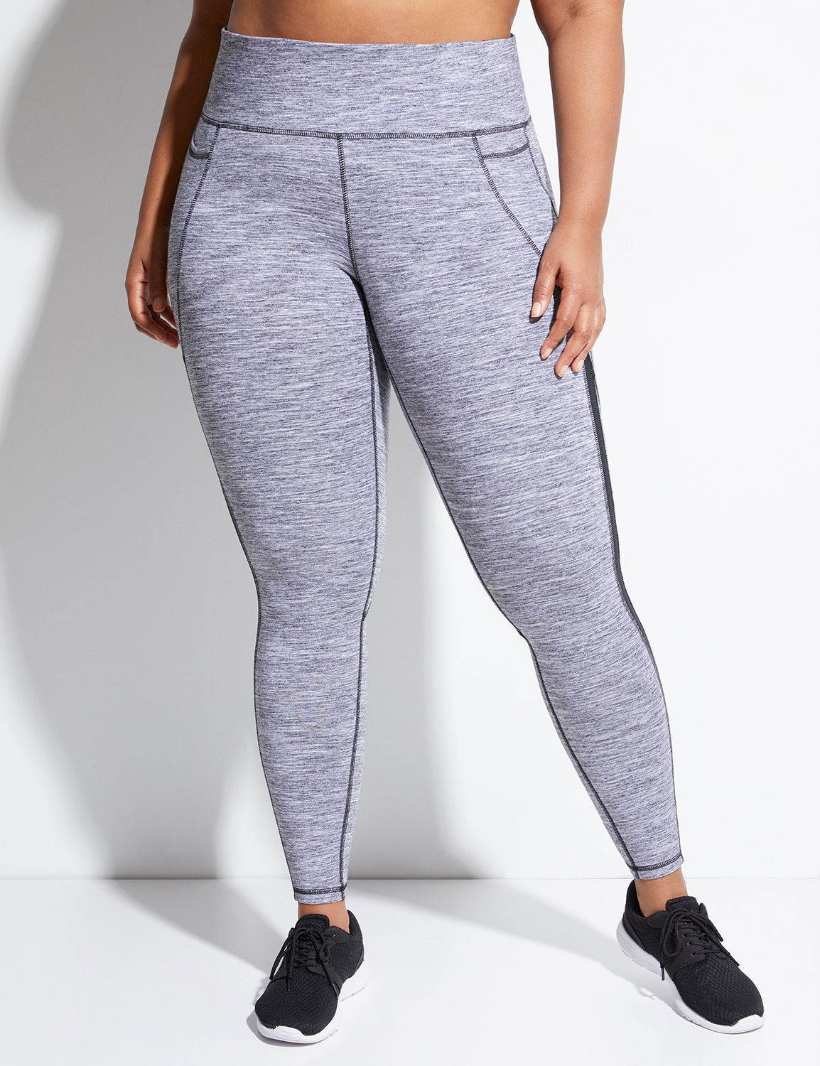 Lane Bryant Womens Active Legging With Mesh Inset 14/16 Neutral