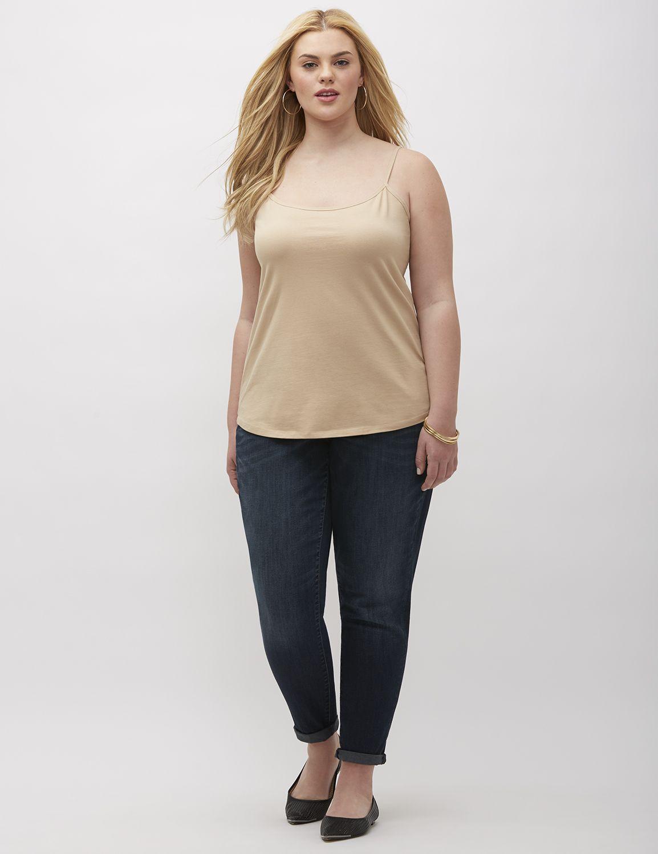 Lane Bryant Womens Essential Cotton Cami 26/28 Cafe Mocha