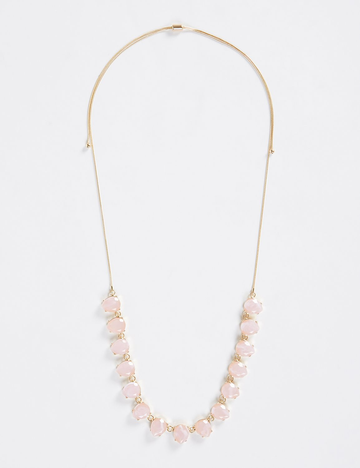 Lane Bryant Womens Adjustable Statement Necklace ONESZ Petal Pink