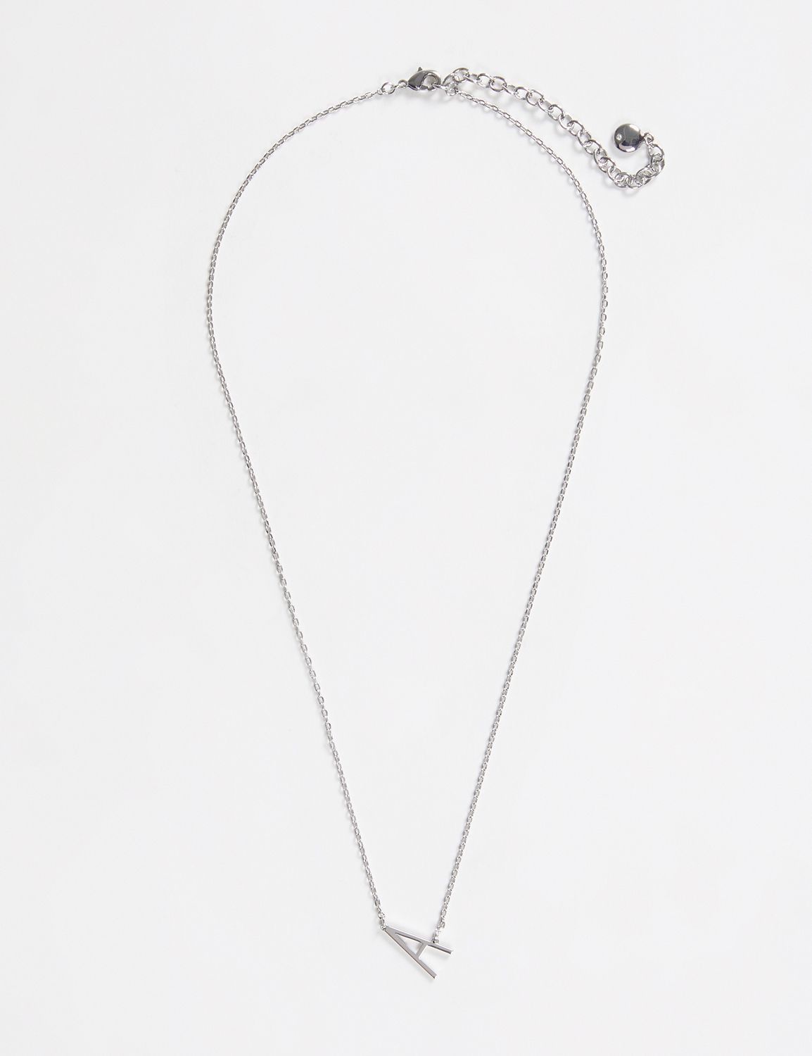 Lane Bryant Womens Initial Necklace ONESZ Silver A