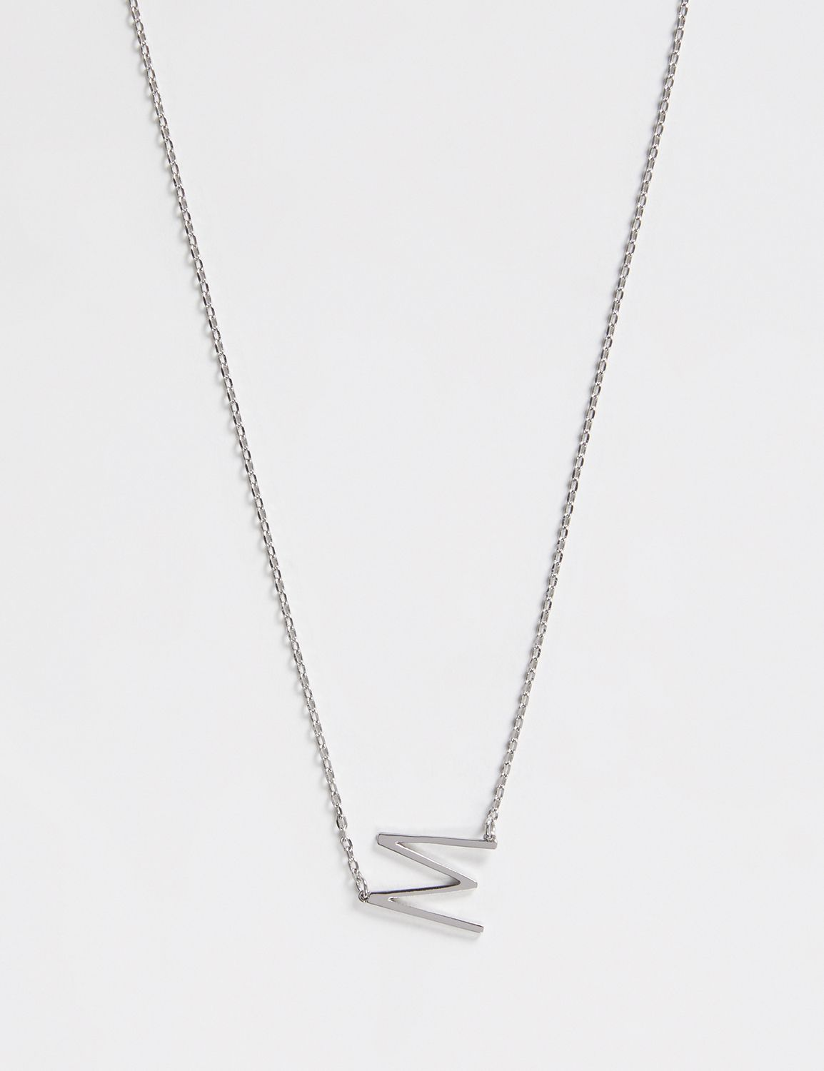 Lane Bryant Womens Initial Necklace ONESZ Silver M