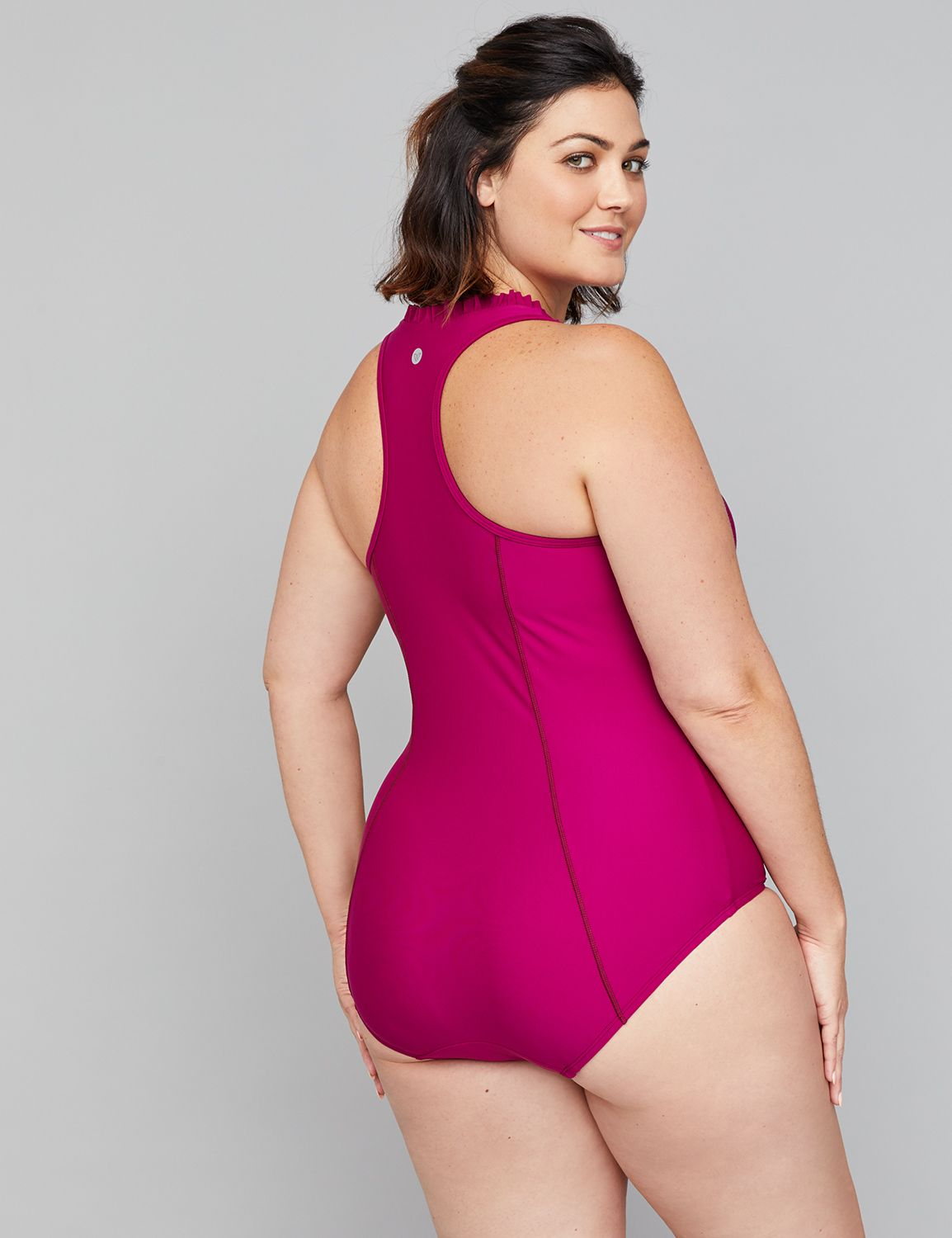 04418a9af3 Damenmode Lane Bryant Cacique printed swim one-piece with built-in no-wire  bra 18 20 22