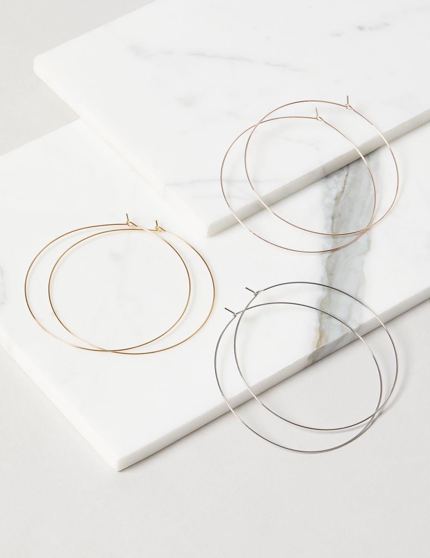 wire art Black flower earrings statement hoops