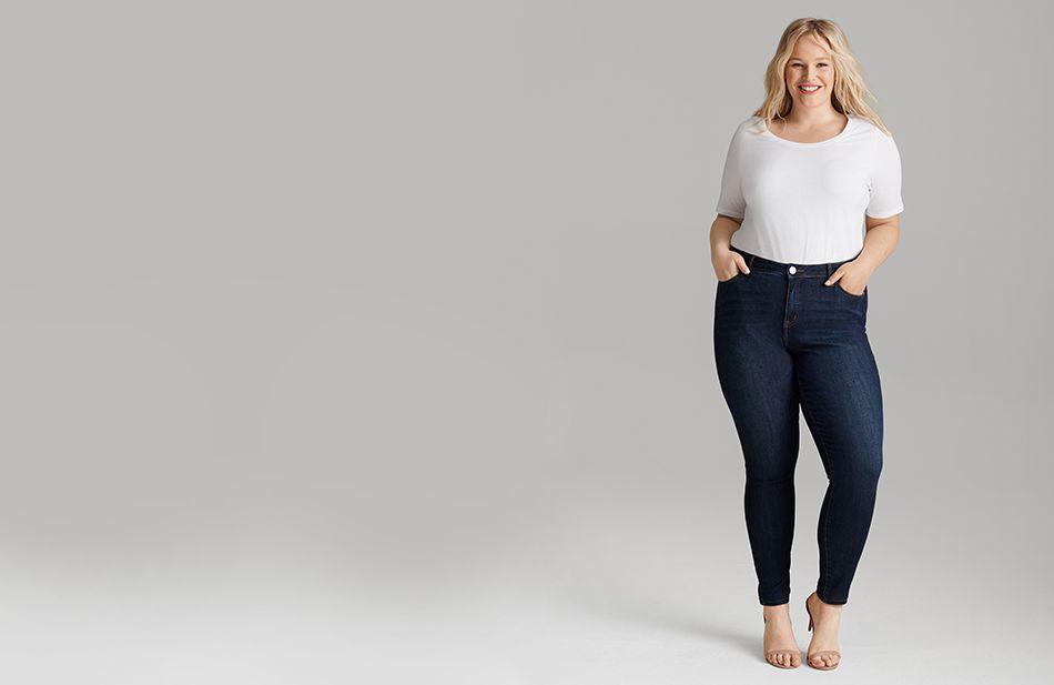 Essentials Womens Plus Size Skinny Jean