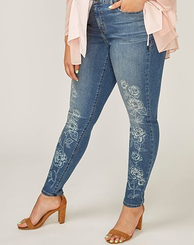 CoolMax Super Stretch Skinny Ankle Jean