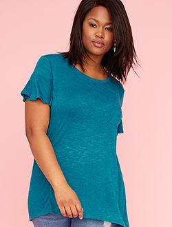 Plus size peplum tee shop tees and tanks